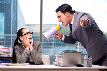 88167438 - boss yelling at his team member